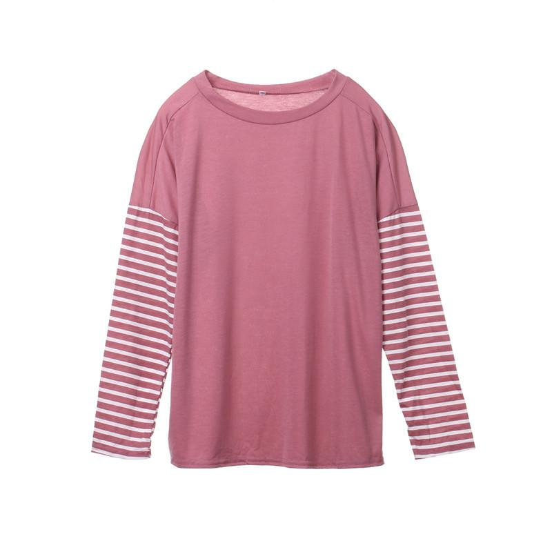 b69095e8922 Casual Striped Winter Tees Hoodies T Shirt Women Long Sleeve Fashion New  Autumn Ladies Tunic Tops Cotton Pullovers Tracksuits Silly T Shirt Make  Your Own ...