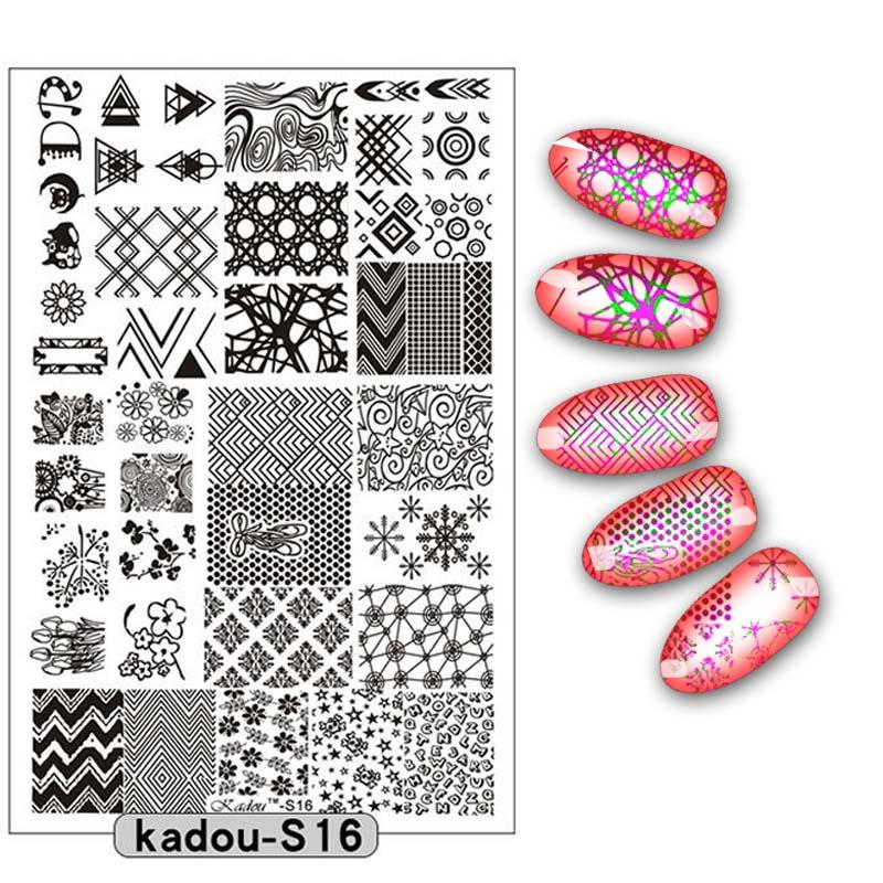 9 5 14 5cm Nail Stamping Plate Nail Art Stencils For Nails Design