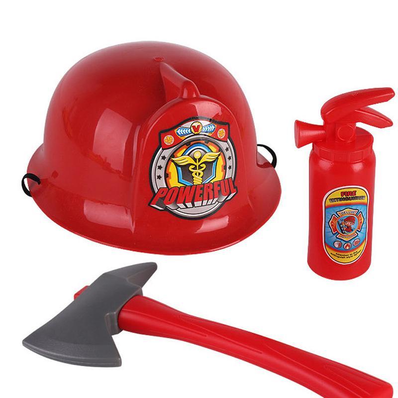 2018 toy tools for children fireman hat fire extinguisher helmet