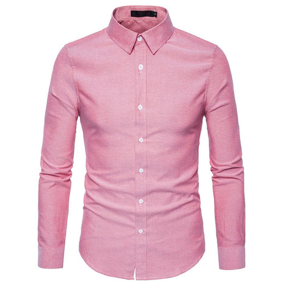 2019 Men Shirt 2018 Brand New Male Dress Shirts Mens Fashion Casual