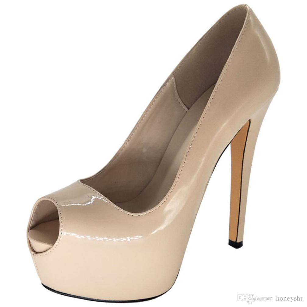 Kolnoo Basic Casual Style Handcrafted Womens High Heel Pumps Patent Leather Simple Summer Party Prom Fashion Court Shoes X1819