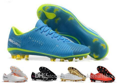 415d12476 2019 2019 New Soccer Shoes Soccer Cleats CR7 Cristiano Ronaldo Men  Mercurial Superfly FG TF High Top World Cup Training Football Boots Sneakers  From ...