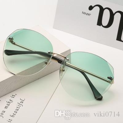 73ff0e8636ac 2019 Polygon Frameless Sunglasses Polarised Sunglasses Baby Sunglasses From  Viki0714