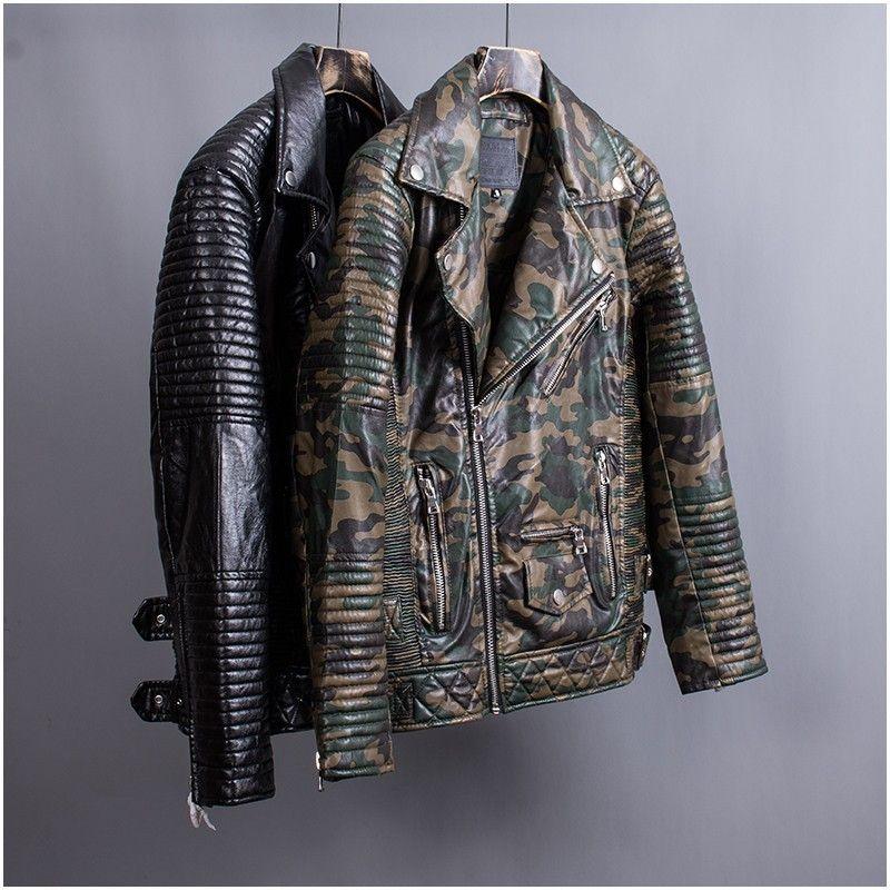 Großhandel 18AW Lederjacke Camouflage Revers Motorradjacke Mann Und Frauen  Hochwertige Jacke HFBYJK145 Von Fear store,  96.4 Auf De.Dhgate.Com   Dhgate 0e25d64ecc