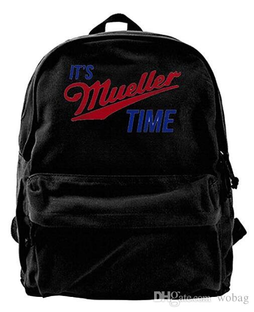 5f12752f9 Funny It'S Mueller Time Logo Particular Men & Women Canvas Shoulder Bag  Backpack Sports, Travel Backpack Black Backpacks For College Backpacks For  Kids From ...