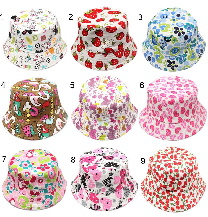 30 Styles 2-6 years Children Hats Sunny leisure boy and girl fisherman Caps DHL