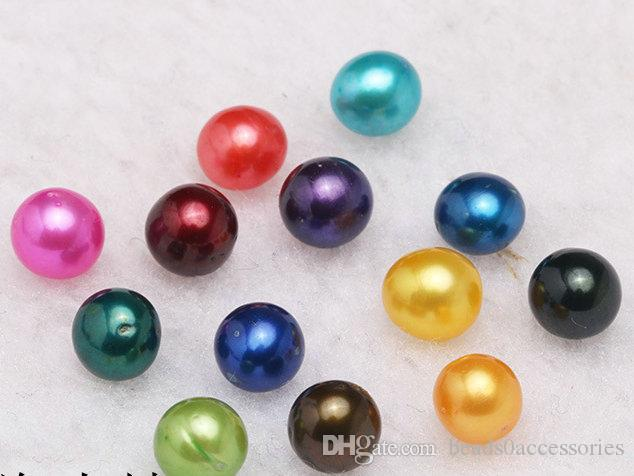 2018 new Round Oyster Pearl 6-7mm Mix big Fresh water Gift DIY Natural Pearl Loose beads Decorations Vacuum Packaging