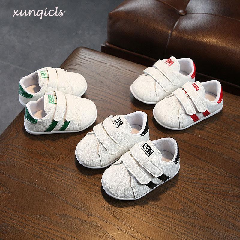 d60e305c474ef Acheter Toddler Baby Shoes Garçons Filles Enfants Casual Baskets Blanches  Bébés Respirants Chaussures De Marche Chaussures À Fond Mou Enfant De   46.89 Du ...