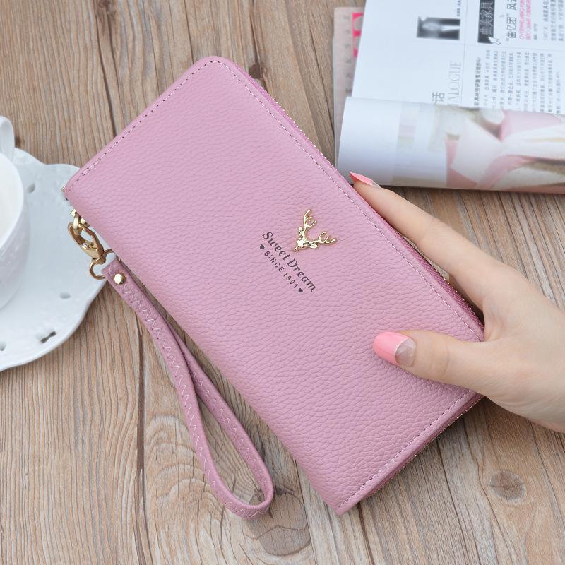 55f633825864fc Hand bag lady wallet women's change purse multi-function stylish card  zipper wallet