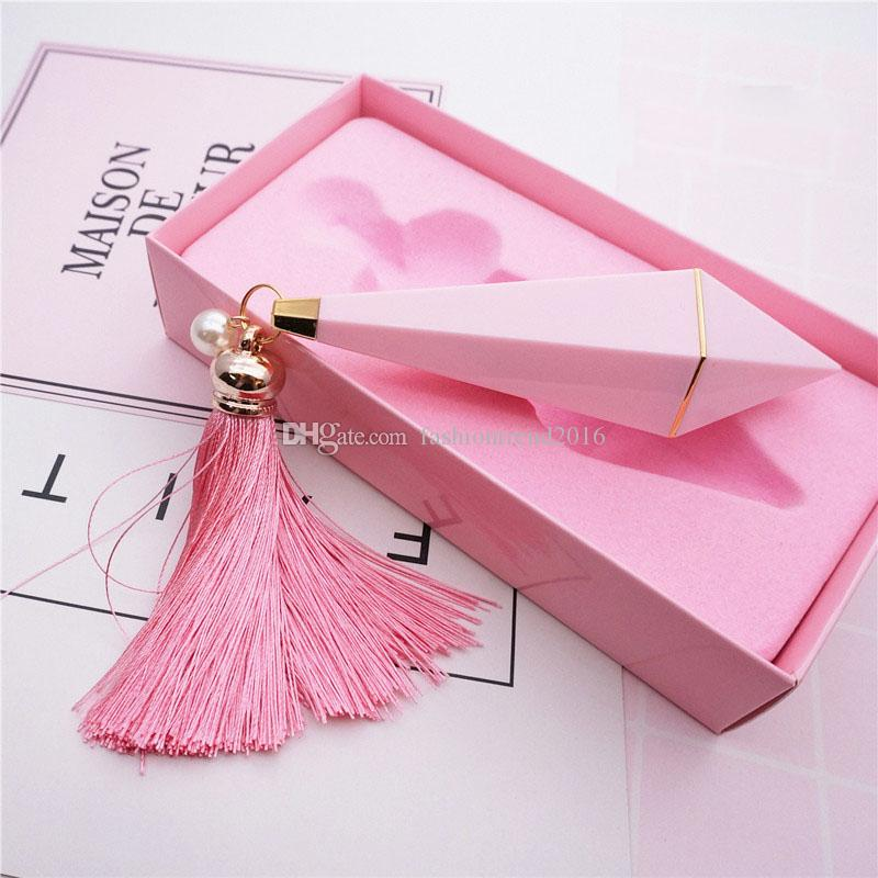 Gift Box Package Empty Diamond Shape Lipstick Tube Pink Lip Balm Tube Fashion Plastic High-end Lipstick Subpackage
