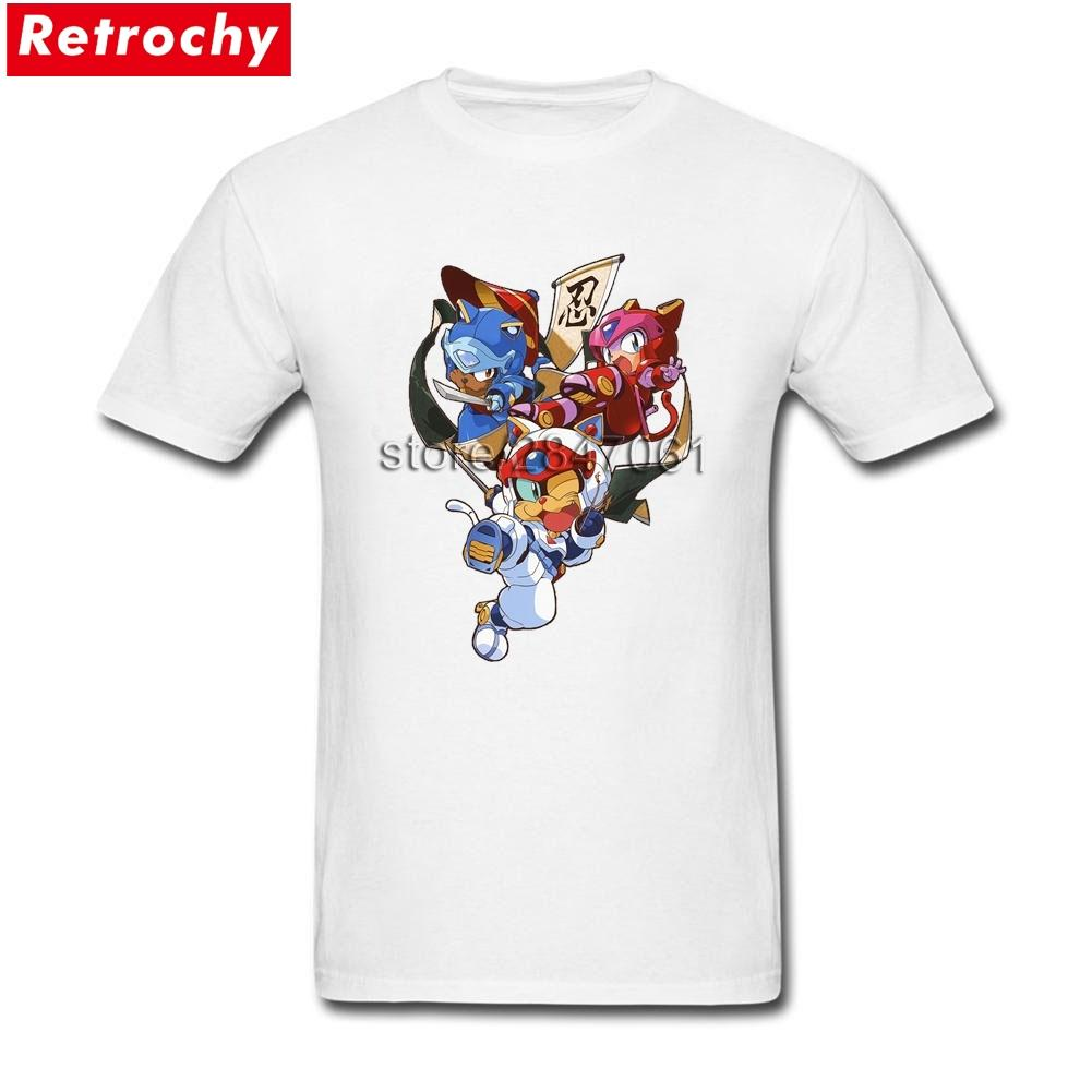 3feac5071f Summer T Shirt Samurai Pizza Cats Adult Short Sleeves O Neck Soft ...