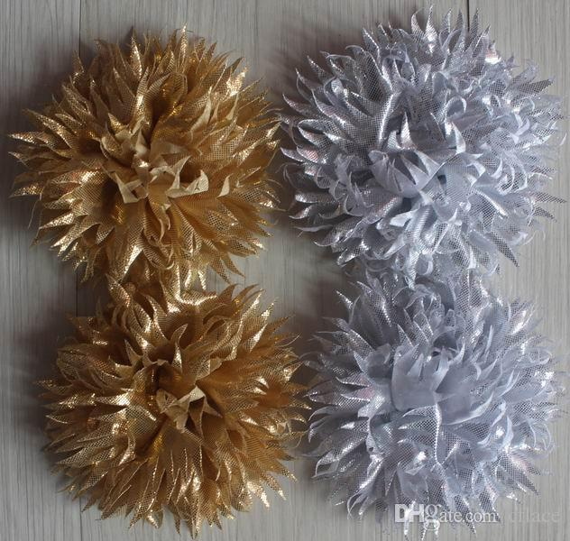 9cm fabric dual-use clip flower for girls hair and clothing accessories,hair clip flower,clip flowers for clothes