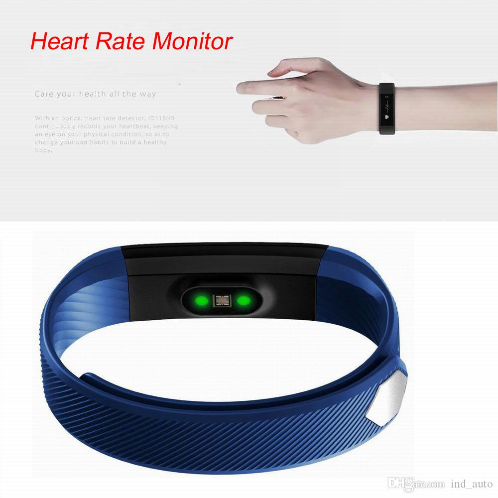 Smart Sports Bracelet Fitness Activity Tracker Wristband Heart Rate Monitor Bluetooth 4.0 Fitbit Watch Bracelet For IOS And Andriod