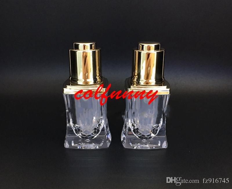 100 adet / grup Hızlı Kargo 10 ml yüksek dereceli akrilik esansiyel yağ / parfüm şişesi, kozmetik ambalaj şişe damlalık kap ile