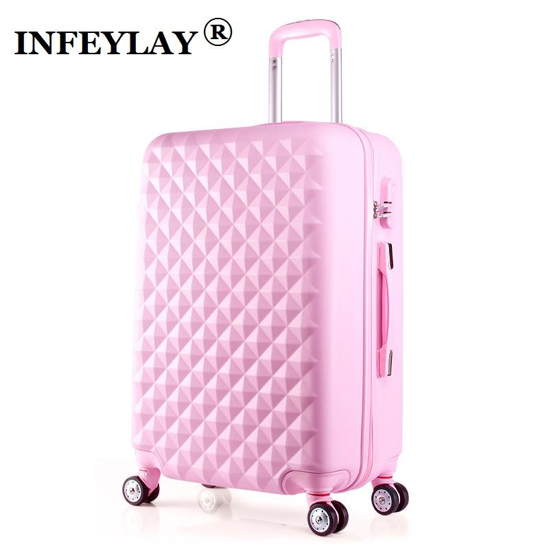 20 24 Inches Abs Girl Students Spinner Trolley Case Child Travel Business Lug E Combination Lock Suitcase Women Boarding Box Overnight Bags For Women