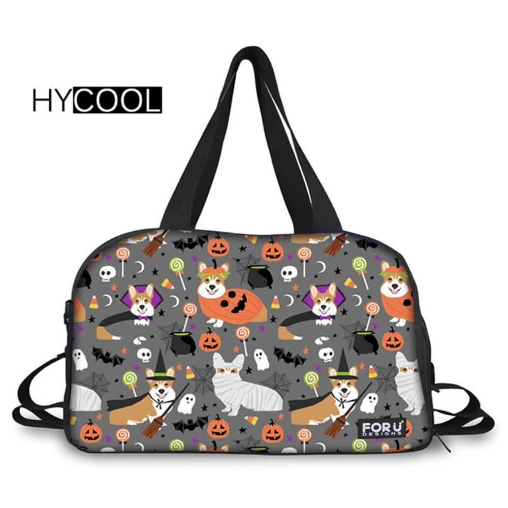 2019 HYCOOL Dogs Halloween Printed Gym Bags Men Waterproof Multifunction  Outdoor Basketball Runner Handbag Teens Lady Sports Yoga Bag From Duriang e1af3a2be7fe9