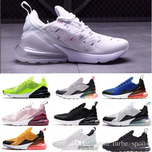 sports shoes ba922 5986b Compre Nike Air Max 270 Venta Al Por Mayor De Alta Calidad Para Mujer Para  Hombre Triple Negro 270 AH8050 Entrenador Deportivo Zapatillas Flair TN  Plus Air ...
