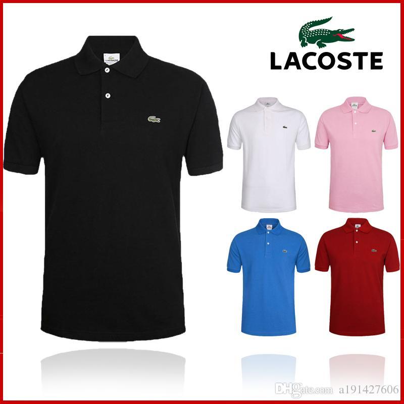 85c1ec6eb3 Acheter Vente Chaude Nouveau Logo Marque 2018 Broderie De Crocodile Polo  Shirt Homme Manches Courtes Chemises Casual Homme Polo Shirt Plus 5XL 6XL  Camisa ...