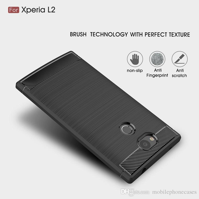 CellPhone Cases For Sony Xperia L2 TPU Carbon Fiber heavy duty case for Sony L2 back cover
