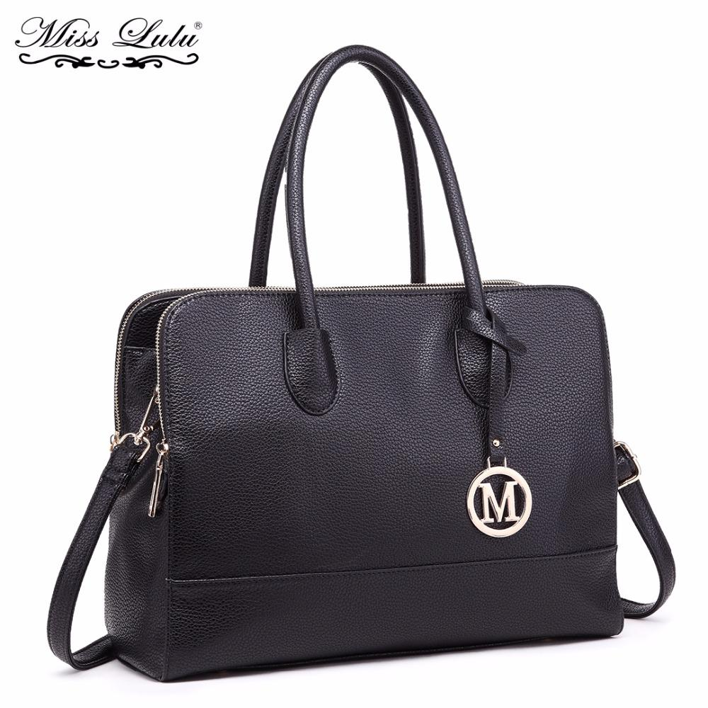 Miss Lulu Women Laptop Handbags Luxury Shoulder Bags Ladies Cross Body Messenger Bags Multi Compartments Female Big Tote LT1726