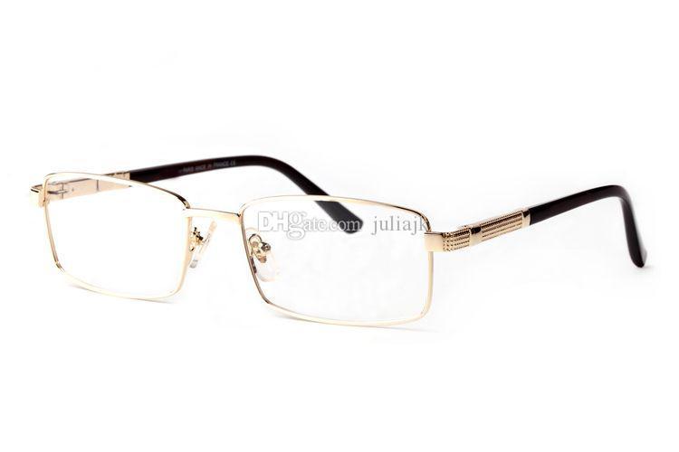 805015d759 Occhiale da vista con montatura in metallo full frame con montatura in  metallo e lenti trasparenti con scatola originale