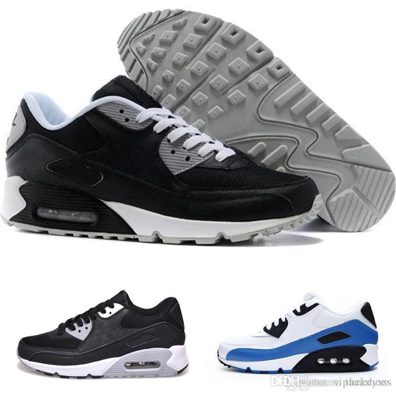 purchase cheap 0d465 b267a Acheter Nike Air Max Adidas Yeezy Vapormax Off Top Qualité Hommes Sneakers  Chaussures Classic 90 Hommes Chaussures De Course Noir Rouge Blanc Sport  Trainer ...
