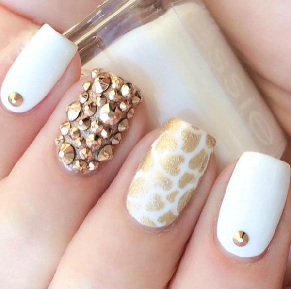 Gold Crystal Rhinestone Nail Design Rhinestones For Nails Strass ...