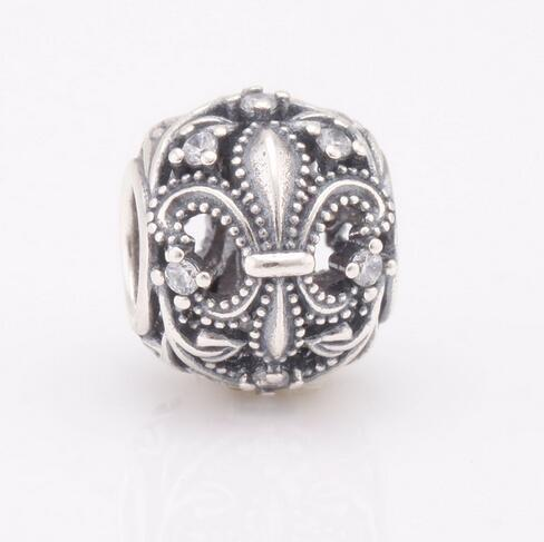 f0a428736 2019 925 Sterling Silver Fleur De Lis Openwork Original Charm With Clear CZ  Fit Pandora Bracelets & Bangles DIY Jewelry From Haijing2005, $13.77 |  DHgate.