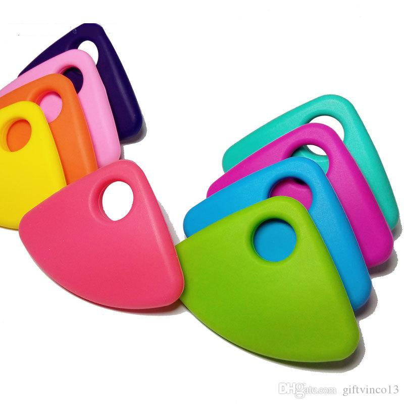 Silicone Teething Necklace Large Fan Bead Baby Teether Food Grade Silicone Chewable Fan Pendant Necklace Nursing Jewelry Chew Toys