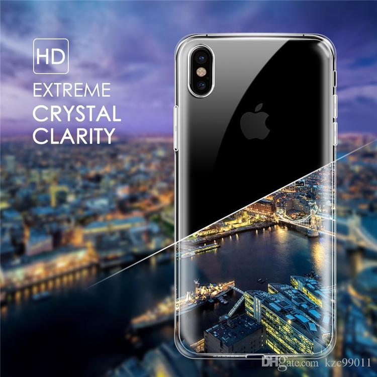 Für neue iphone xr xsx max x 8 7 6 6 s plus tpu case klar 0,3mm für samsung galaxy s9 s8 plus s7 rand hinweis 9 8 weiche abdeckung