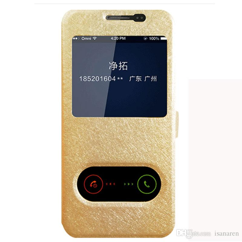 Phone Case Flip Quick View Window Leather Cover For Samsung Galaxy J5 2017 EU Version Cases Gold J530F