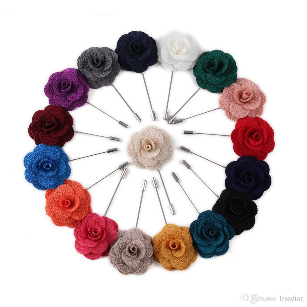 High Quality Camellia Flower Lapel Pin Brooch Handmade Handmade