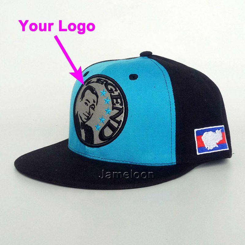 Yapış geri toka 3D dikişler oyuncu kapağı özelleştirilmiş logo futbol tenis spor beyzbol hip hop kap özel şapka