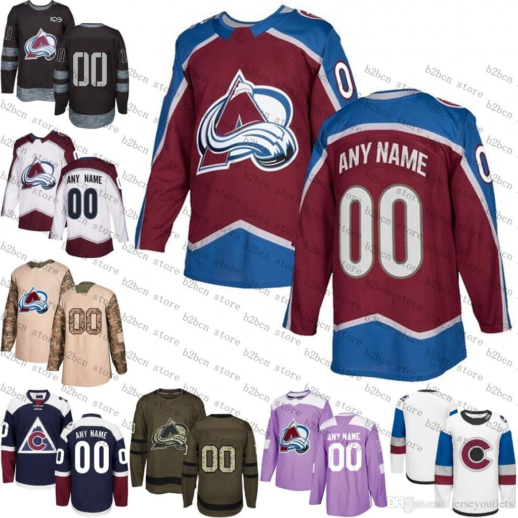size 40 189a1 7931d 2018 Customized Men s Women Colorado Avalanche Custom Any Name Any Number  Ice Hockey Jersey,Authentic Jersey Accept Mix Ord size S-3XL