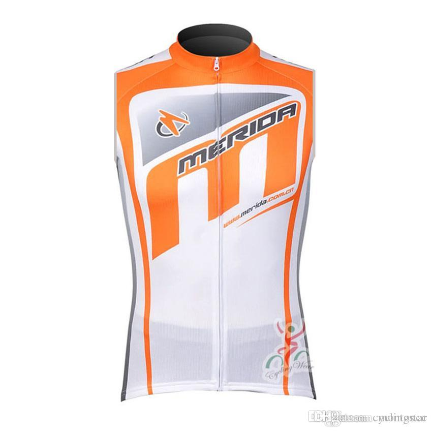 Pro Team Merida Cycling Sleeveless Jersey Cycling Vest Bike Maillot ... 5f481ff93