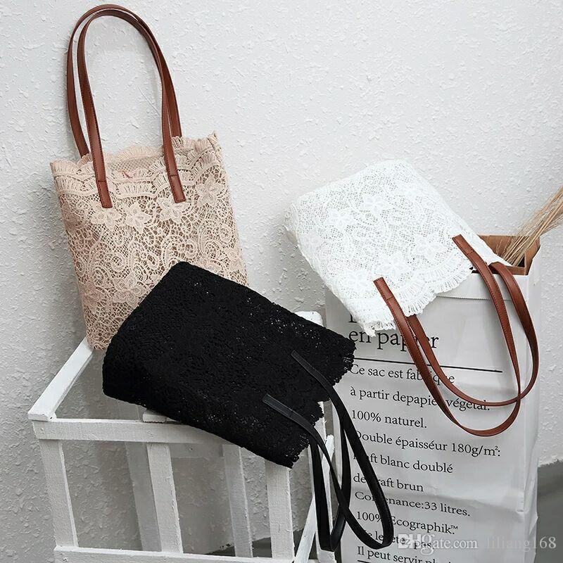 Borsa a tracolla in pizzo all'ingrosso e al dettaglio 2018, borsa, shopping bag donna, consegna gratuita.