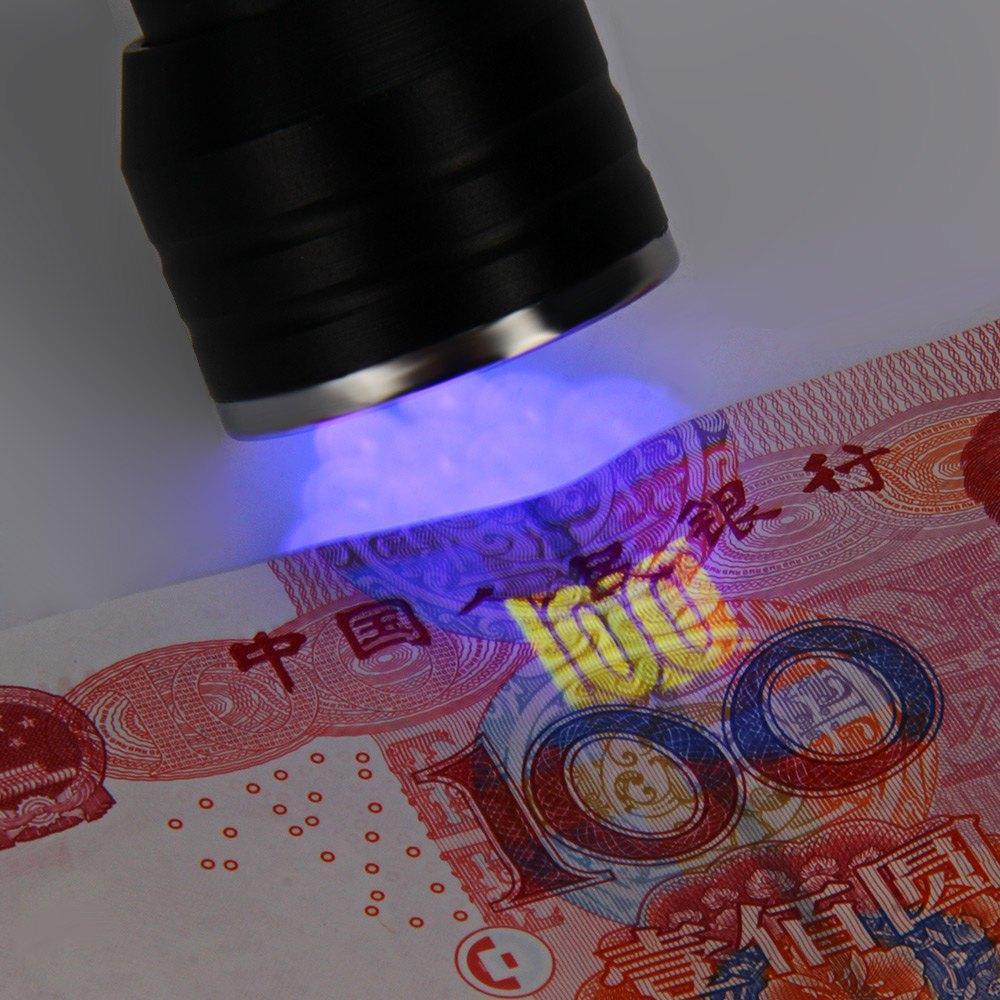 Lightme 21 LED UV Ultra Violet Torcia Torcia in lega di alluminio 395-410nm UV Colla polimerizzazione Invisibile Inchiostro Marker Lamp
