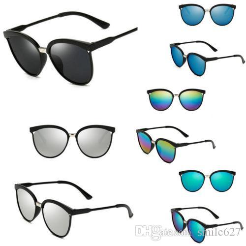586b20415119 Women s Vintage Mirror Designer Flat Lens Sunglasses Retro Eye ...