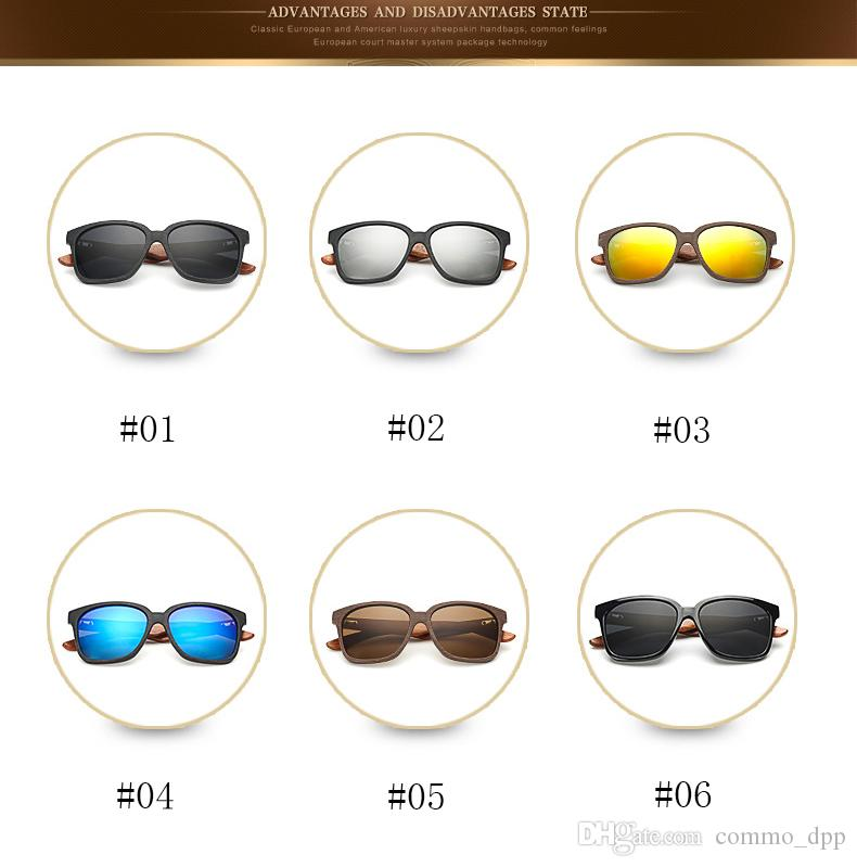 New Bamboo Wood Frame Sunglasses Men High Quality Wooden Sun glasses Radiation Protection Multicolor luxury eyeglass For women Gafas de sol