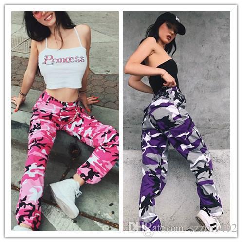 Acquista Nuovi Pantaloni Mimetici Mimetici Da Donna Lunghezza Intera 2018  Primavera Multy Camo Pantaloni Hip Hop Da Bambina Streetwear Tourers Multi  Colori ... 2bf964bbc66d