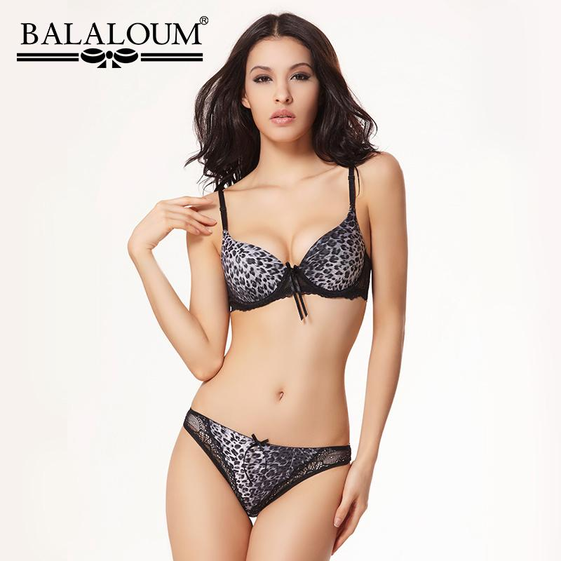622a468c9 Wholesale Sexy Women Leopard Print Lace Push Up Bra Panty Sets Brassiere  Seamless T Back Thongs Underwear Lingerie Set Soft Online with  39.67 Set  on ...
