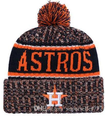 2fe9581cf7da3 Fashion Winter Spring Sports Houston Beanies Casual Custom Knitted Cap All  Team Knit Hat Embroidery Soft Warm Skuilles Cap Stocking Cap Baby Sun Hat  From ...