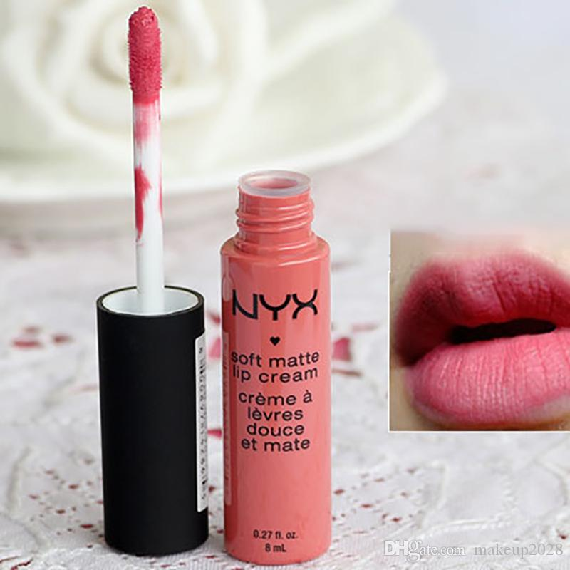 NYX Weiche Matte Lippencreme Lippenstift NYX Makeup Charmante langlebige Daily Party Brand Glossy Makeup Lippenstifte Lipgloss Kostenloser Versand