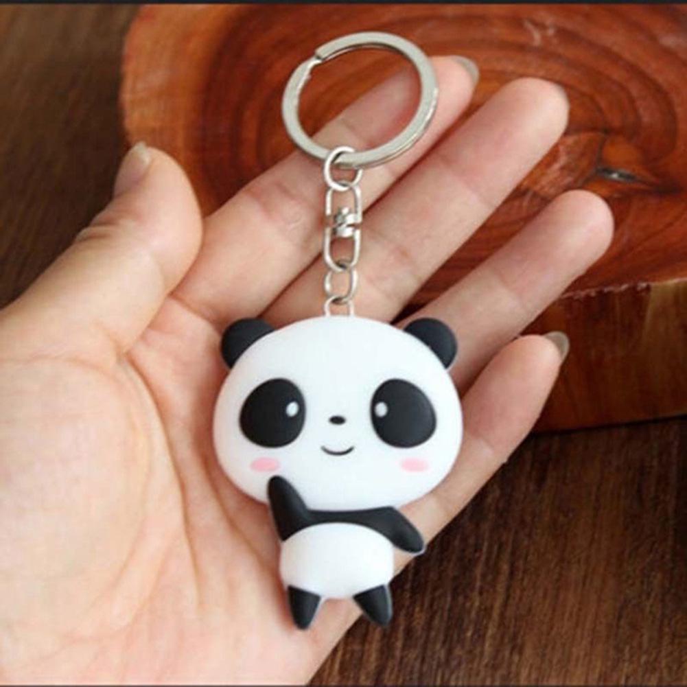 1 Pc Trendy Keys Chains Silicone Cute Panda Cartoon Keychain Bag Pendant  Key Ring Kawaii Gift Present For Women Wholesale