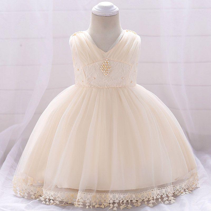 bec10b96fd55 Flower Girl Dress Toddler Fancy Clothes Newborn Baby 1 Year Birthday ...