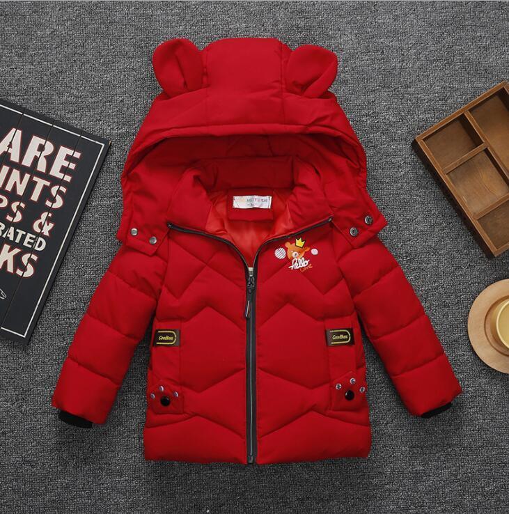 5ed8c9189 Baby Boy Girls Snowsuit Outwear Bear Ear Crown Love Print Winter Hooded  Children Outerwear Casual Jacket Coat KKA6171 Baby Winter Warm Coat KIDS Down  Coat ...