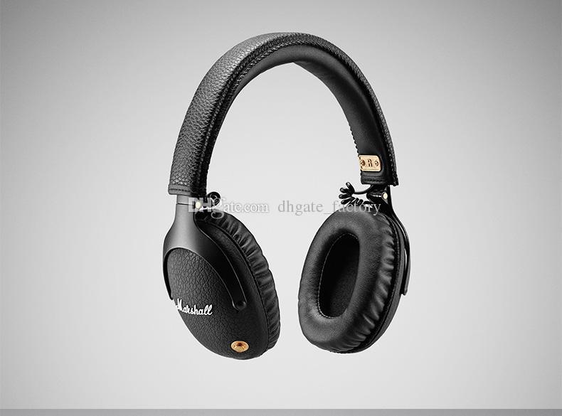 Marshall Monitor de Fones De Ouvido Sem Fio Bluetooth DJ Hifi Fone De Ouvido Com Cancelamento de Ruído esporte fone de ouvido para iphone x 8 plus s9 + epacket telefone celular
