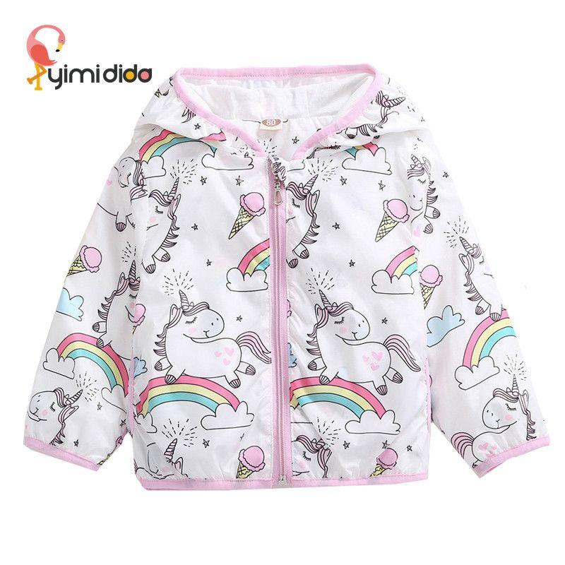 96d94d26c92c Toddler Girl Clothing Jacket Unicorn Rainbow Pony Floral Kids ...
