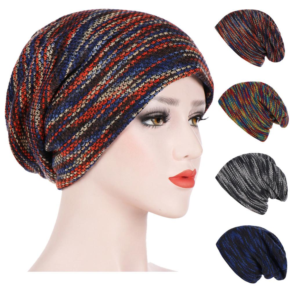 Unisex Autumn Watch Cap Fashion Women Mens Warm Striped Knitted Outdoors  Casual Hat Ruffle Wrap Cap Winter Hats 1030 Stetson Hats Trilby From  Bensimmons 039271dc99c