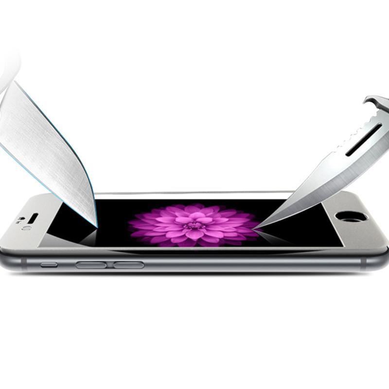Blu-ray ausgeglichenes Schirm-Schirm-Schutz-Vollschirm-Schutz für iphone 7plus 7 6 6plus mit Kleinkasten